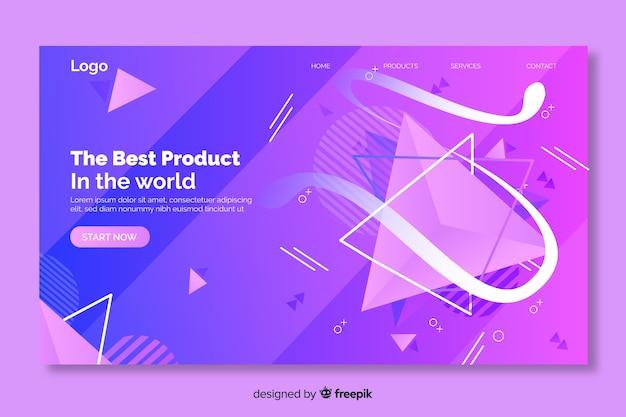 Meilleur produit de formes géométriques page de destination Vecteur gratuit