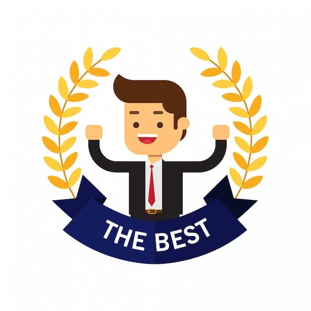 Meilleure couronne de récompense pour les entreprises Vecteur Premium