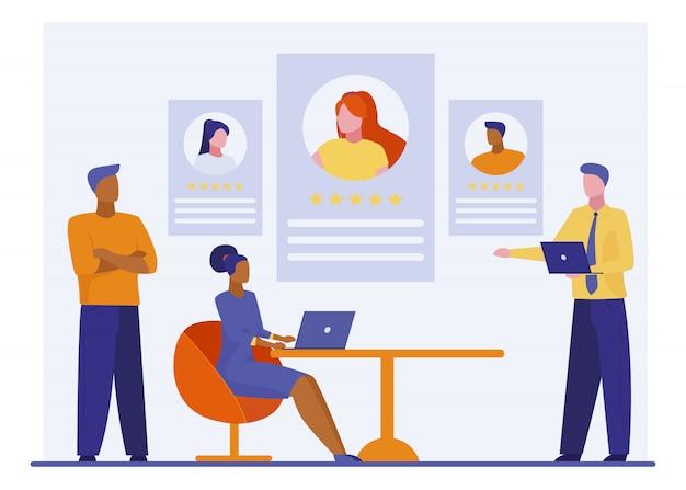 Meilleure évaluation Des Employés Vecteur gratuit