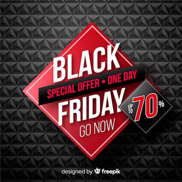 Meilleure offre bannière du vendredi noir Vecteur gratuit