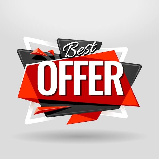 Meilleure offre bannière Vecteur gratuit