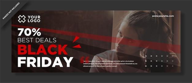 Meilleure Offre Limitée Black Friday Facebook Cover Vecteur Premium