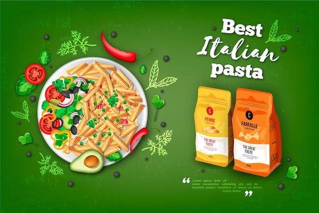 Meilleure Publicité Sur Les Pâtes Italiennes Vecteur gratuit