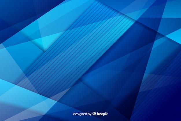 Mélange de formes de nuances bleues chaotiques Vecteur gratuit