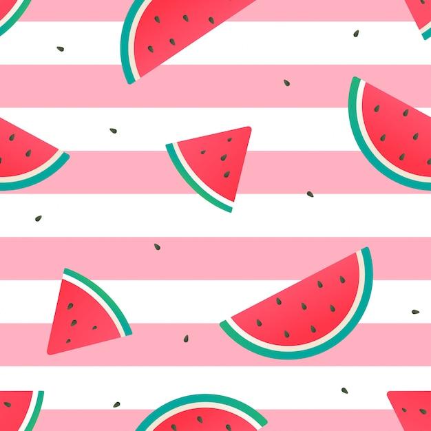Melon d'eau sans soudure modélisme Vecteur Premium