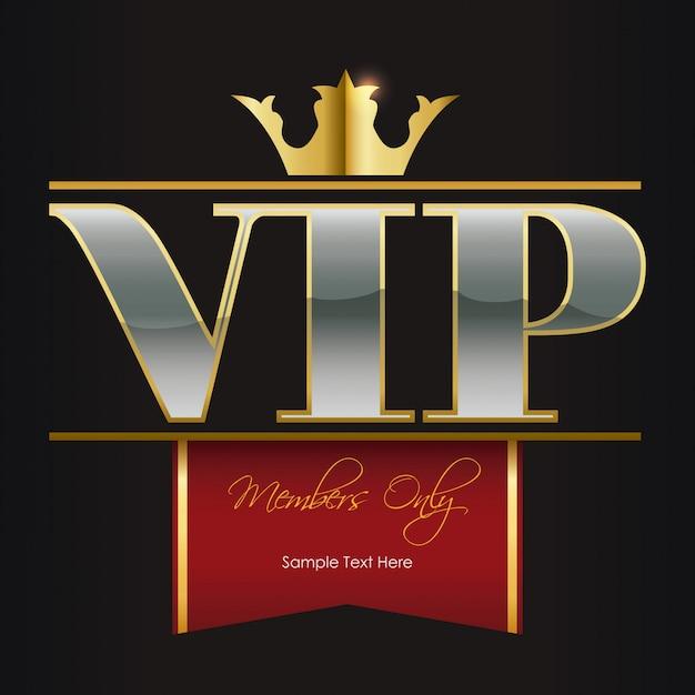 Membre vip Vecteur Premium