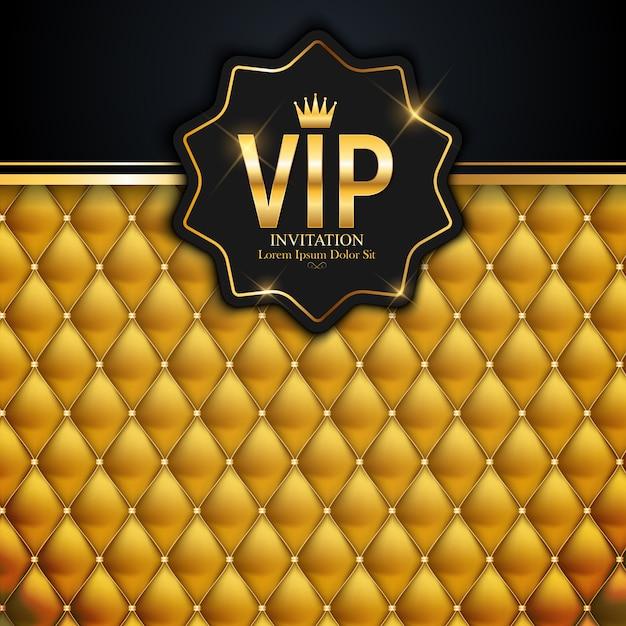 Membres de luxe, carte-cadeau invitation vip Vecteur Premium