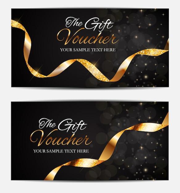 Membres de luxe, modèle de carte-cadeau Vecteur Premium