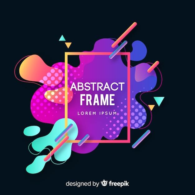 Memphis abstract frame Vecteur gratuit