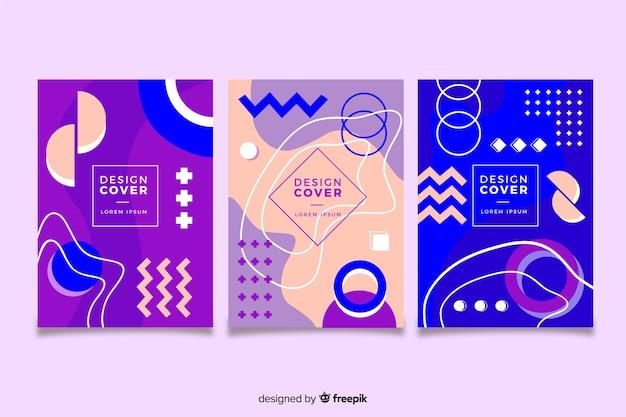 Memphis cover collection concept for template Vecteur gratuit