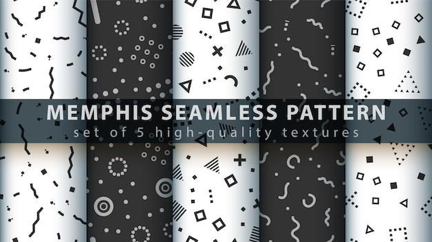 Memphis seamless pattern Vecteur Premium