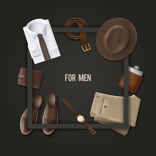 Men wear fashion concept Vecteur gratuit