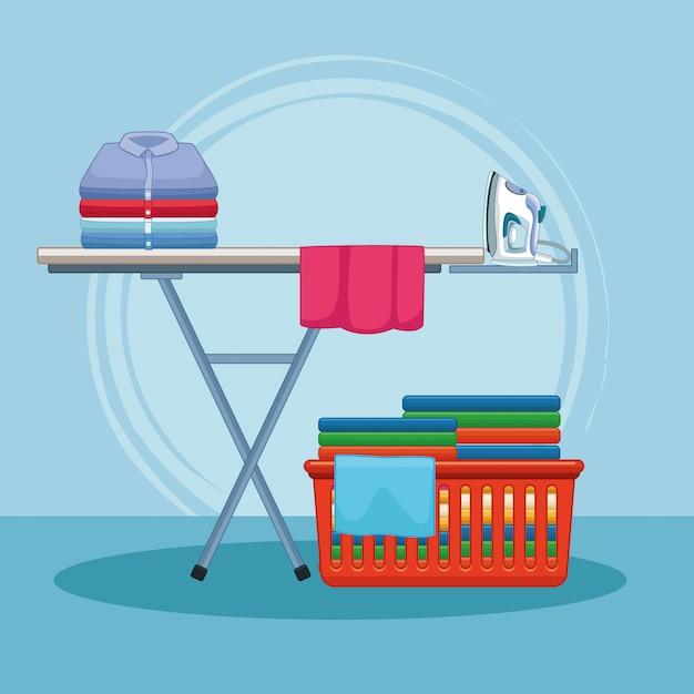 Ménage et kit de nettoyage Vecteur Premium