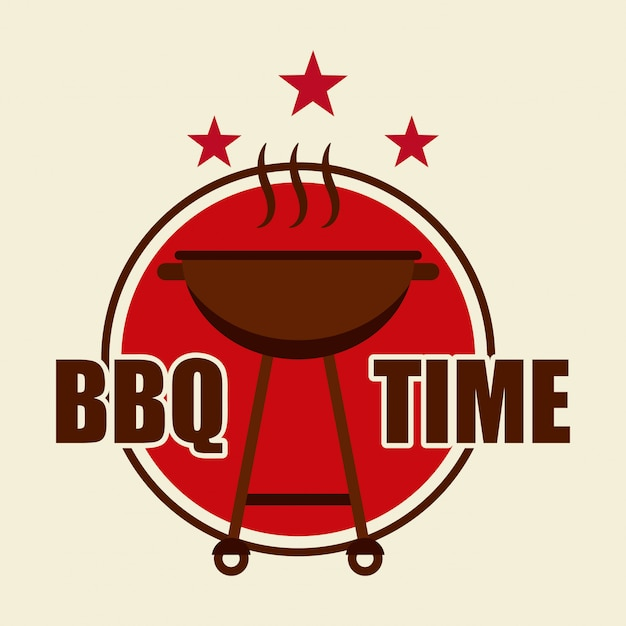 Menu barbecue Vecteur Premium
