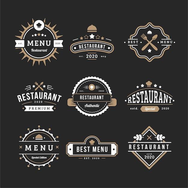 Menu de collecte de logo rétro café Vecteur gratuit
