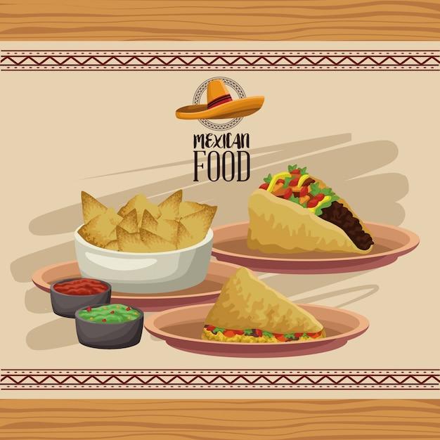 Menu De La Cuisine Mexicaine Vecteur Premium