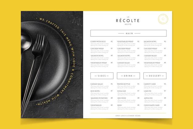 Menu De Cuisine De Restaurant Artisanal De Style Vintage Vecteur gratuit