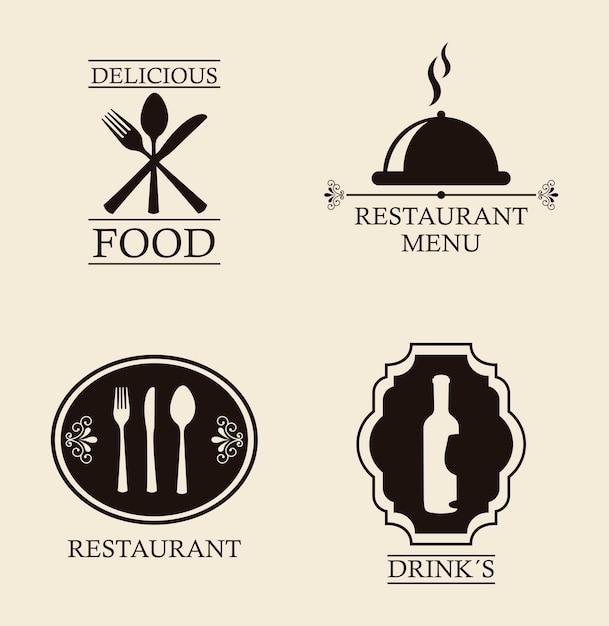 menu de restaurant sur illustration vectorielle fond beige Vecteur Premium