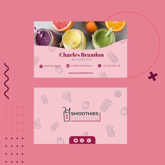 Menu Du Restaurant Smoothies Factory Vecteur gratuit