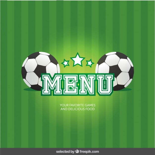 Menu football Vecteur gratuit