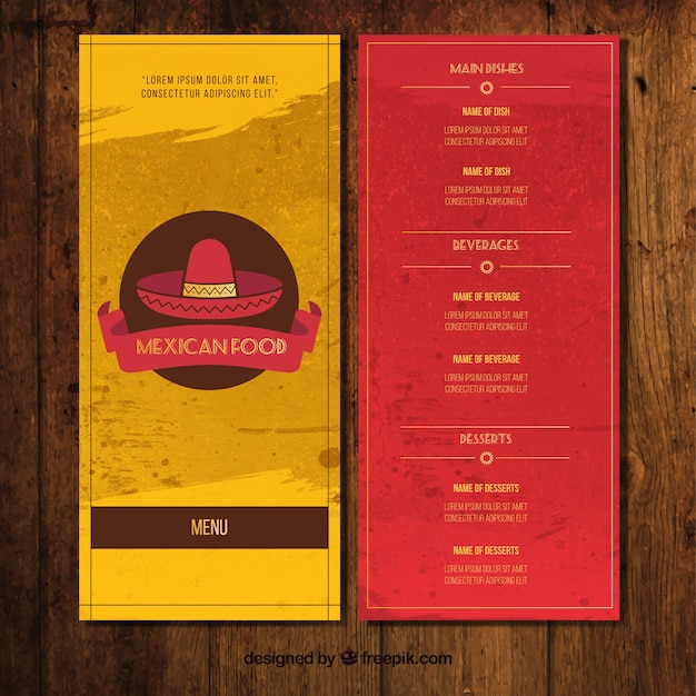 Restaurant Mexicain Menu