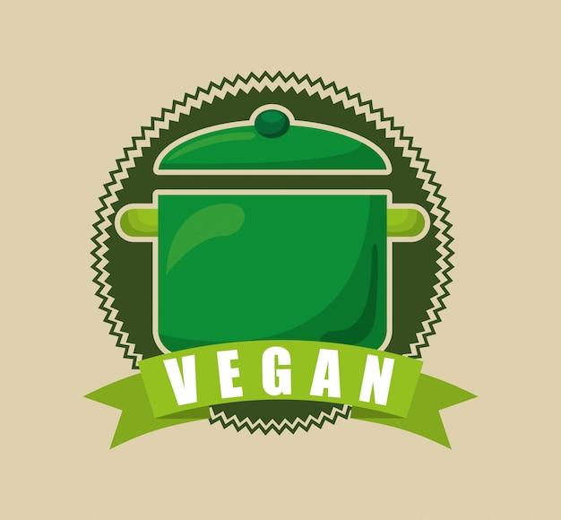 Menu végétarien Vecteur gratuit
