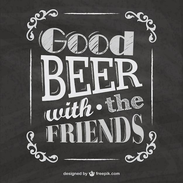 Menus de la bière tableau noir Vecteur gratuit