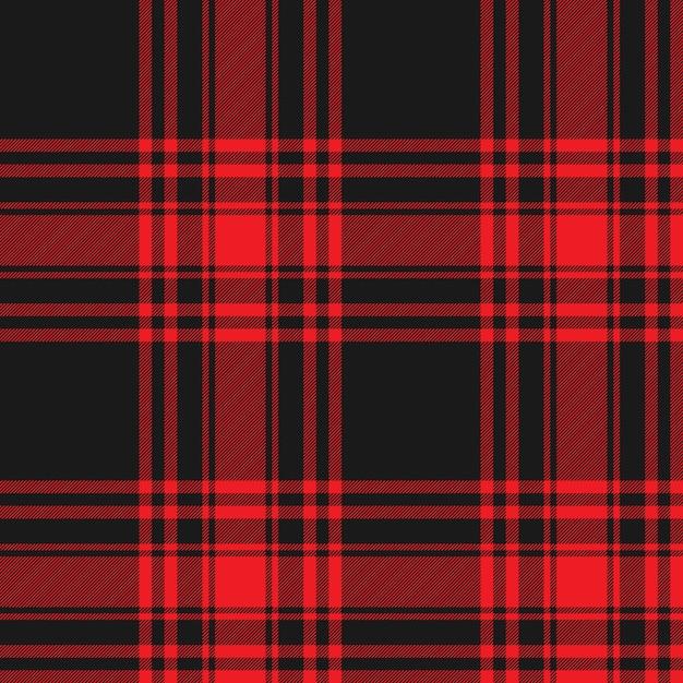 Menzies tartan noir rouge kilt jupe tissu texture transparente Vecteur Premium