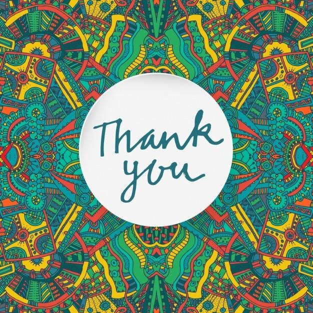Merci Carte Avec Des éléments Aztec Vecteur gratuit