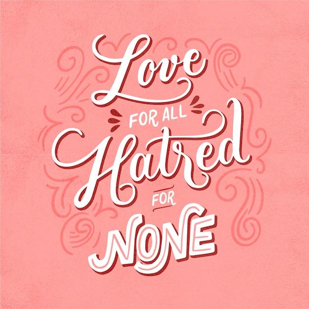Message D'amour Dans Le Style Vintage Vecteur gratuit