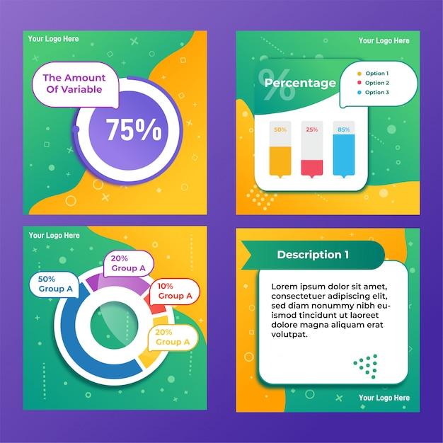 Message d'infographie sur les médias sociaux Vecteur Premium