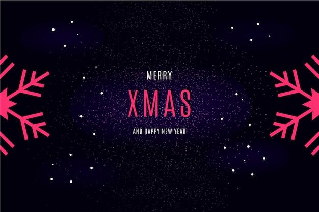 Message De Joyeux Noel Sur Fond D Ecran Sombre Vecteur Gratuite