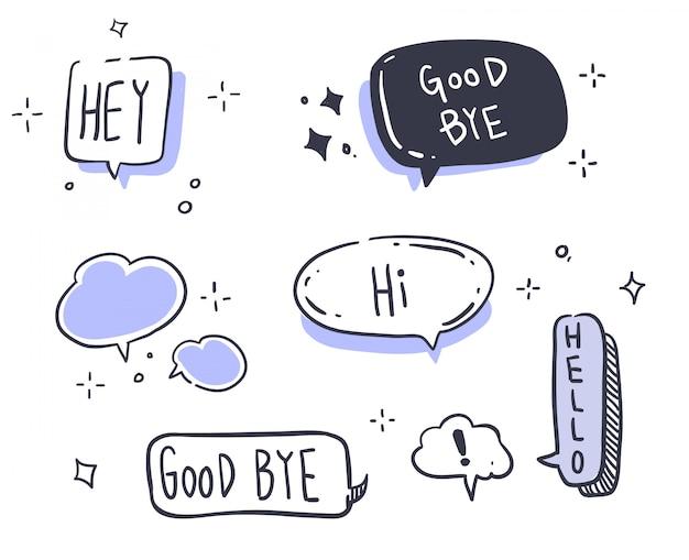 Message de style dessin animé Vecteur Premium