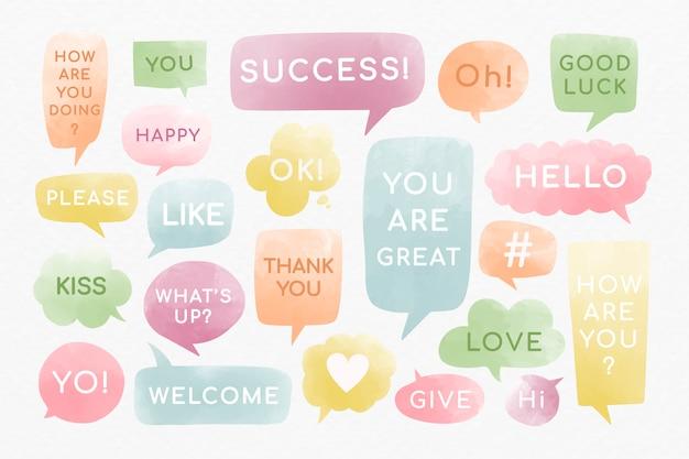 Messages De Bulles De Motivation Vecteur gratuit