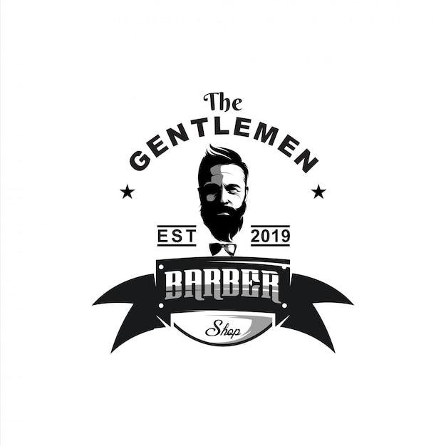 Messieurs Logo Design Illustration Vecteur Premium