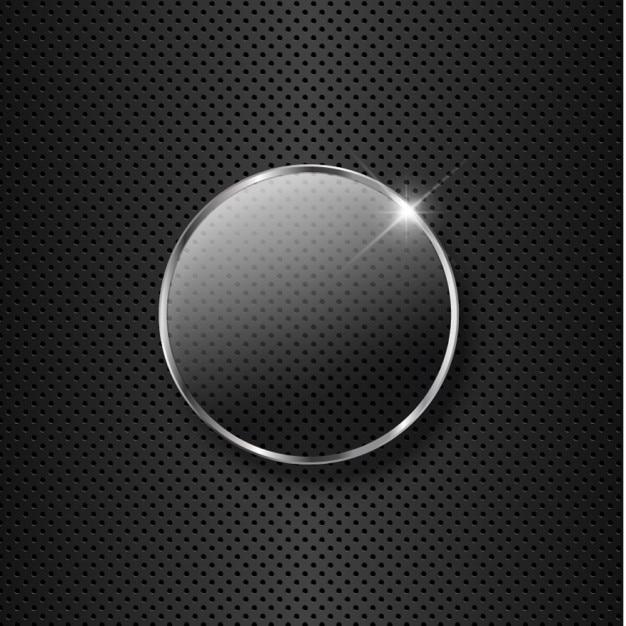 Metal Background Avec Verre Vecteur gratuit