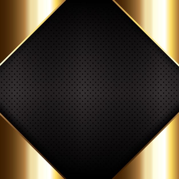 Métal doré sur fond de texture métallique perforée Vecteur gratuit