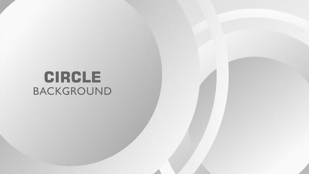 Métal en niveaux de gris abstrait cercle abstrait Vecteur Premium