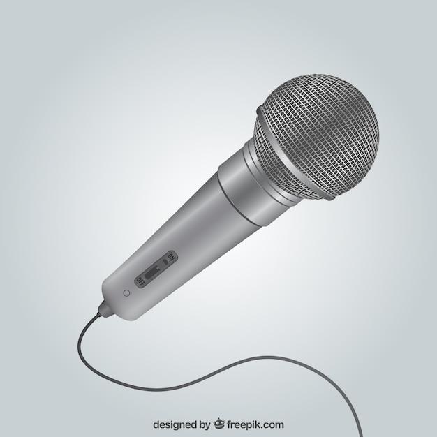 Metallic Microphone Vecteur gratuit