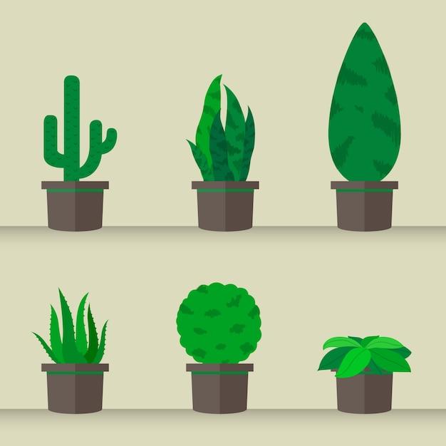 mettre ou planter des cactus l 39 arbre jardin nature t l charger des vecteurs premium. Black Bedroom Furniture Sets. Home Design Ideas