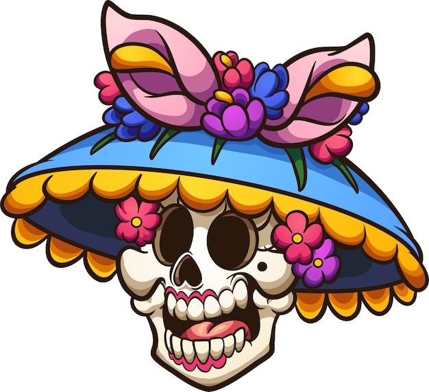 Mexican_catrina Vecteur Premium