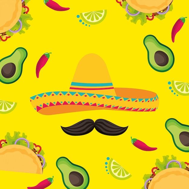 Mexique cinco de mayo Vecteur Premium
