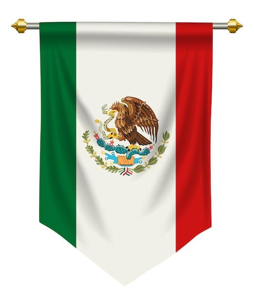 Mexique fanion Vecteur Premium