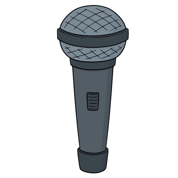 Microphone De Bande Dessinée Vecteur Premium