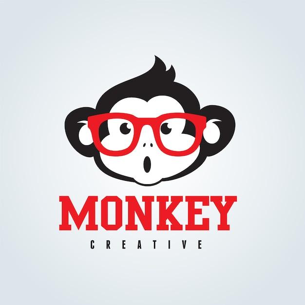 Mignon monkey avec des lunettes Vecteur gratuit