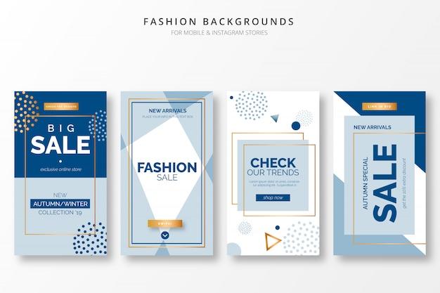 Milieux De La Mode élégante Pour Insta Stories Vecteur Premium