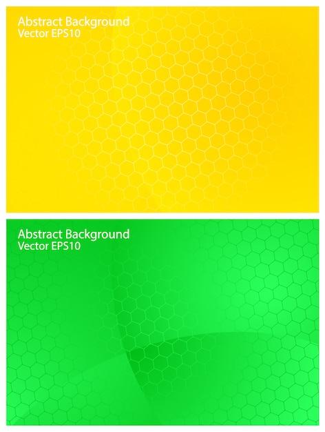Milieux De Vecteur Vert Et Jaune Vecteur Premium