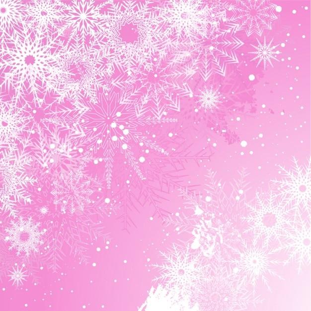 Milou fond de noël rose Vecteur gratuit