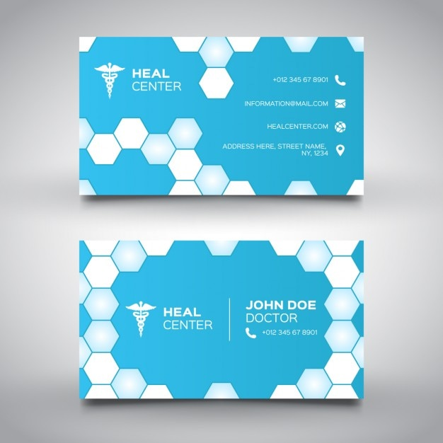Minimal Bleu Carte De Visite Mdicale