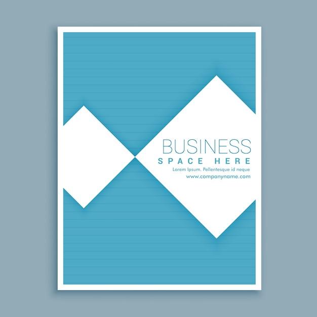 Minimal prospectus customisé brochure d'affaires bleu et blanc au format a4 Vecteur gratuit